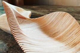 Model ławki ze sklejki