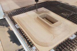 frezowanie 3D modelu z MDF