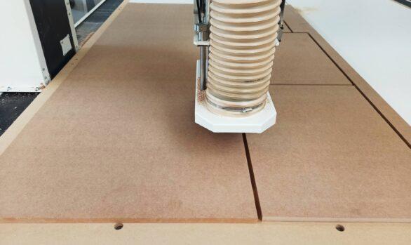 Realizacje: frezowanie CNC płyty MDF
