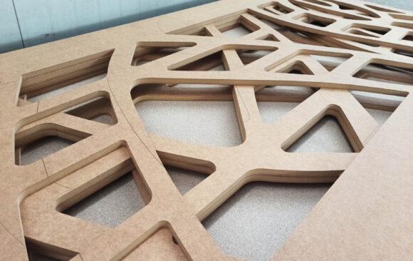 Realizacje: Frezowanie kształtów z MDF